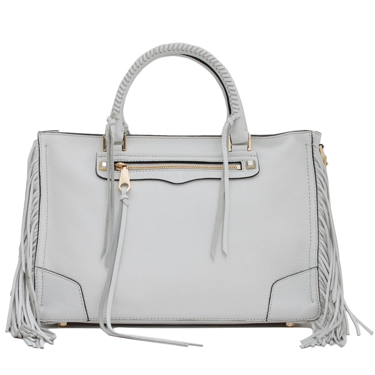 Rebecca Minkoff Regan Satchel with Fringe- White