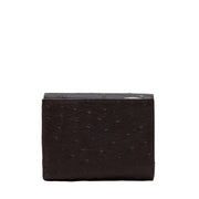 Furla Ostrich Embossed Classic Medium French Wallet