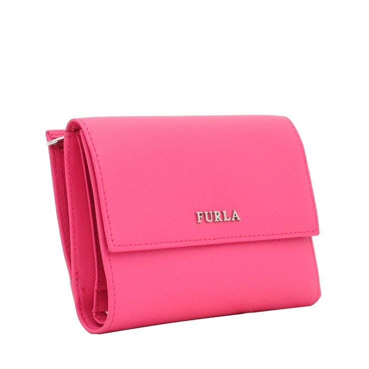 Furla Short Leather Wallet- Dragon Fruit