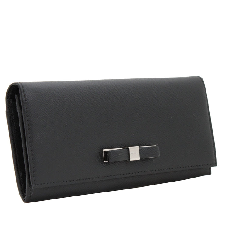 Furla Chantilly Long Leather Wallet- Onyx