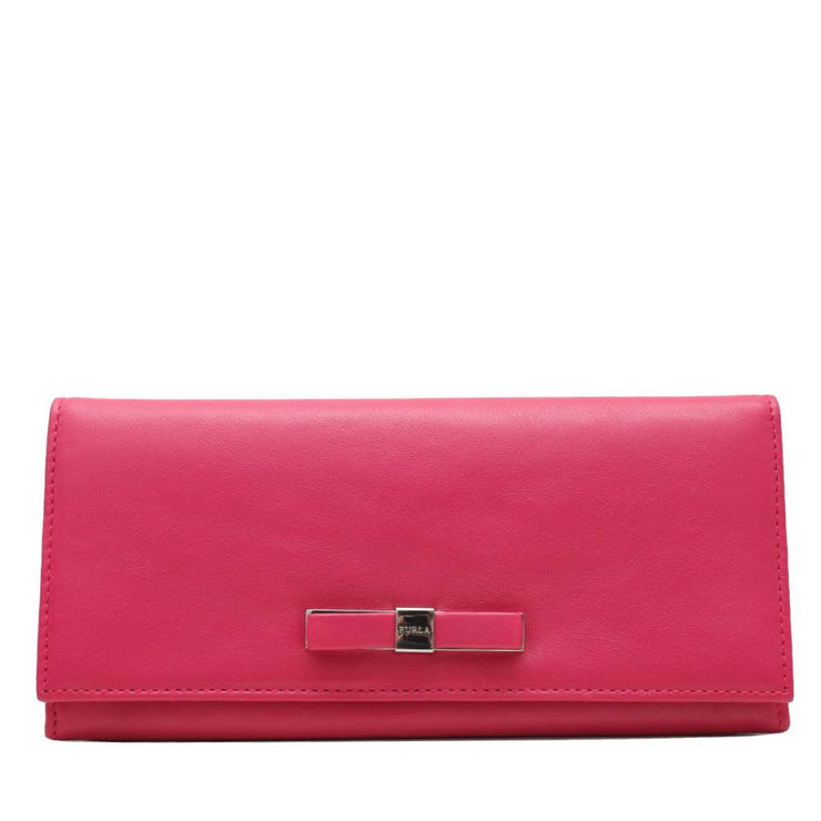Furla Chantilly Long Leather Wallet- Dragon Fruit