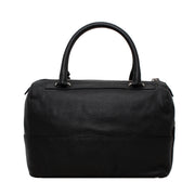 Furla Textured Leather Laila Bauletto Bag- Onyx