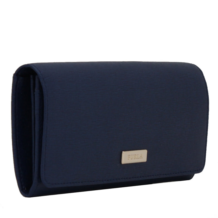 Furla Saffiano Leather Bi-Fold Continental Wallet- Onyx