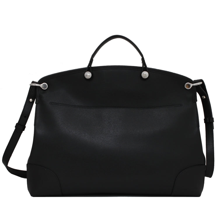 Furla Piper Top Handle Saffiano Leather Tote Bag- Onyx