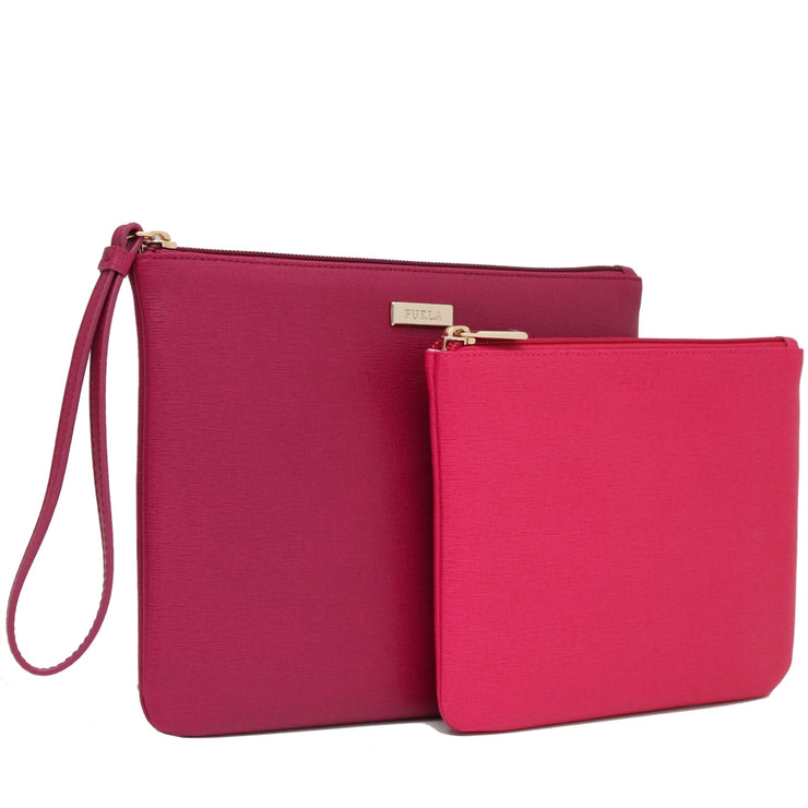 Furla Royal Envelope Set- Clutch + Pouch- Mirto- Gloss