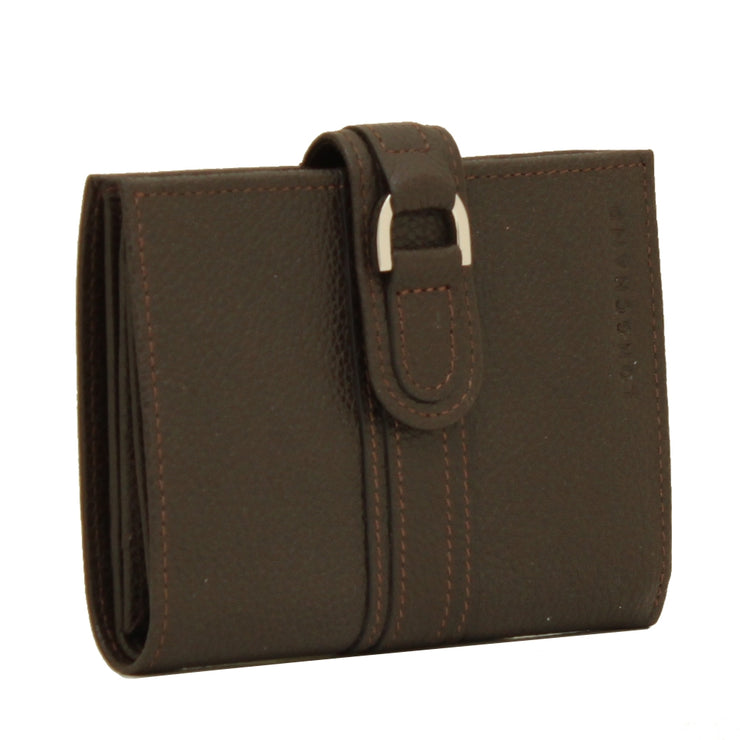 Longchamp Veau Foulonne Leather French Wallet- Cognac