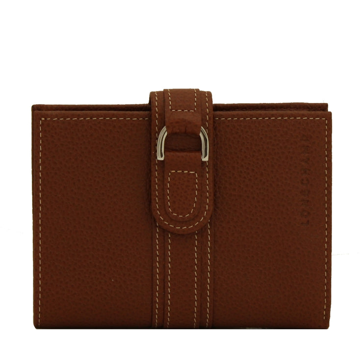 Longchamp Veau Foulonne Leather French Wallet