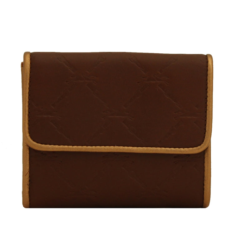 Longchamp LM Cuir Deluxe Leather French Wallet- Oak Brown