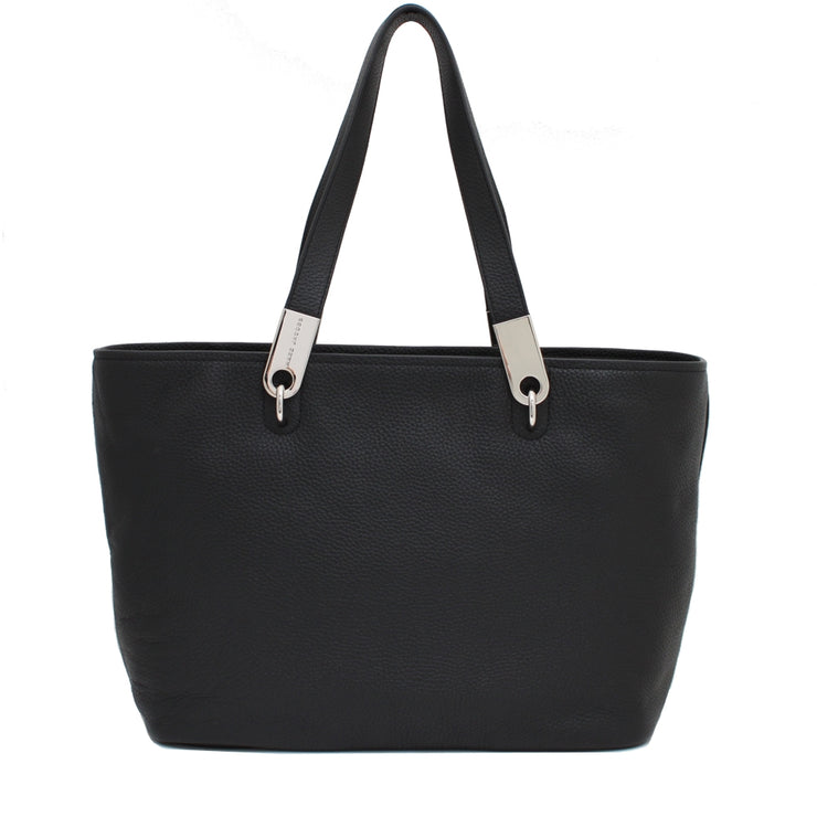 Marc Jacobs Pike Place East West Leather Tote Bag- Black