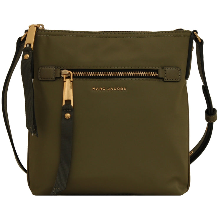 Marc Jacobs Trooper North- South Nylon Cross Body Bag- Army Green