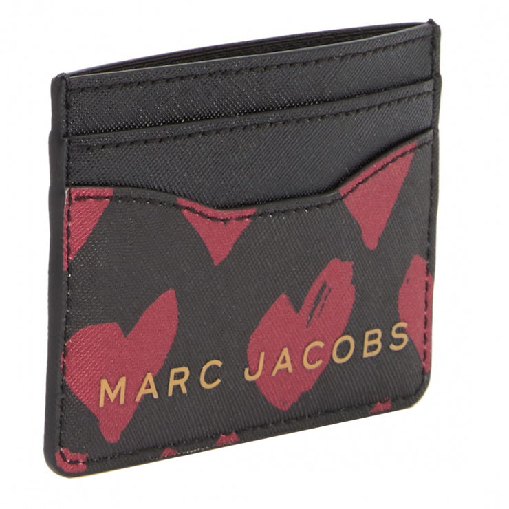 Marc Jacobs Leather Card Case- Red Hearts