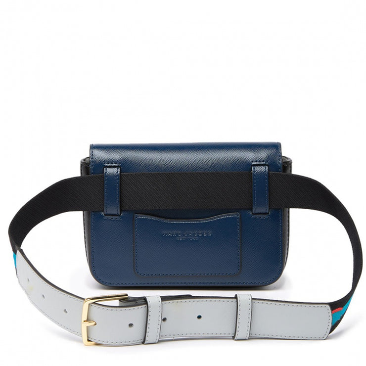 Marc Jacobs Logo Strap Hip Shot Bag- Blue Sea Multi