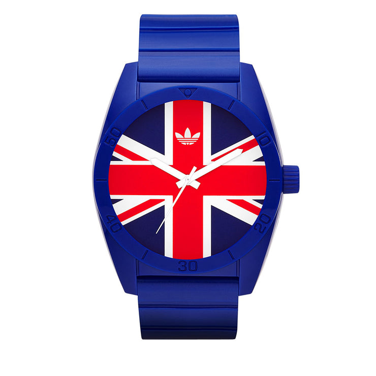 Adidas Unisex Exclusive Union Jack Silicon Watch-Blue