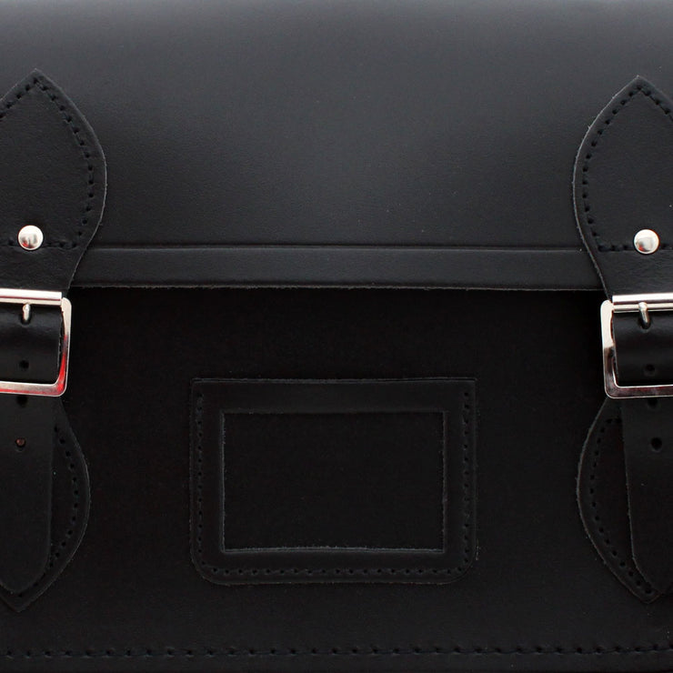 The Cambridge Satchel Company Leather Satchel Bag- Black (13inch)