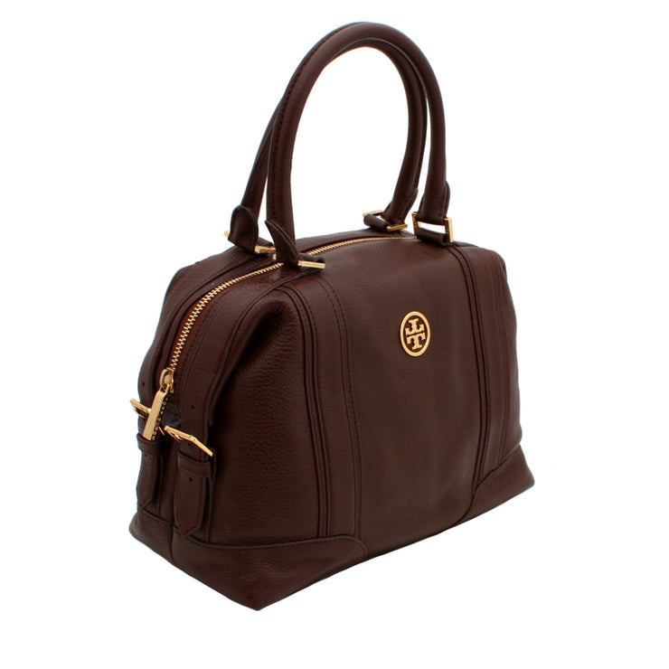 Tory Burch Ally Leather Satchel Bag- Brown