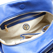 Tory Burch Thea Leather Satchel Bag- Royal Ocean