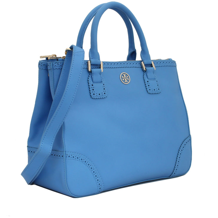 Tory Burch Robinson Spectator Double Zip Tote Bag- Ocean Breeze