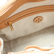 Tory Burch Robinson Spectator Double Zip Tote Bag- Bleach