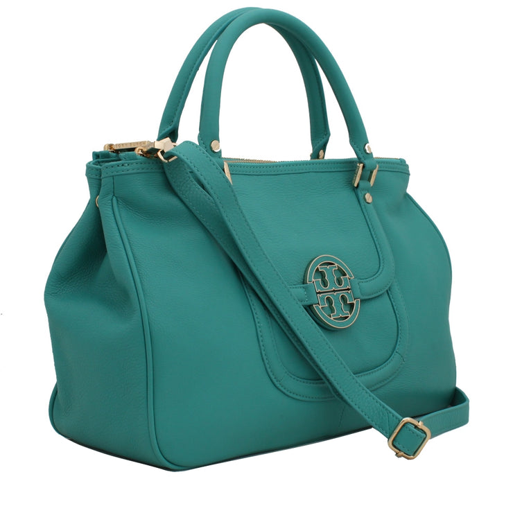 Tory Burch Amanda Double Zip Tote Bag- Royal Tan