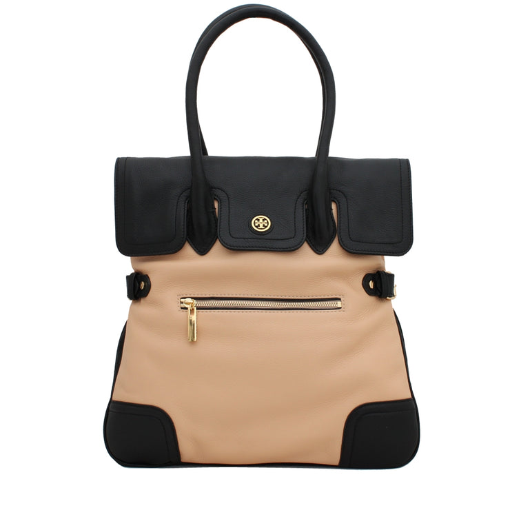 Tory Burch Edye Tote Bag- Sahara-Black