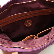 Tory Burch Penn Mini Tote Bag- Dark Plum