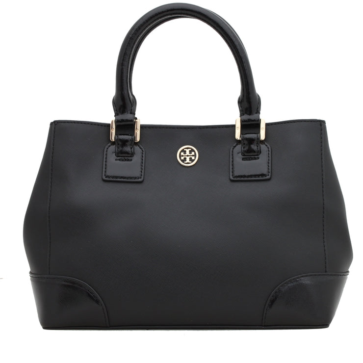 Tory Burch Robinson Mini Square Tote Bag- Black