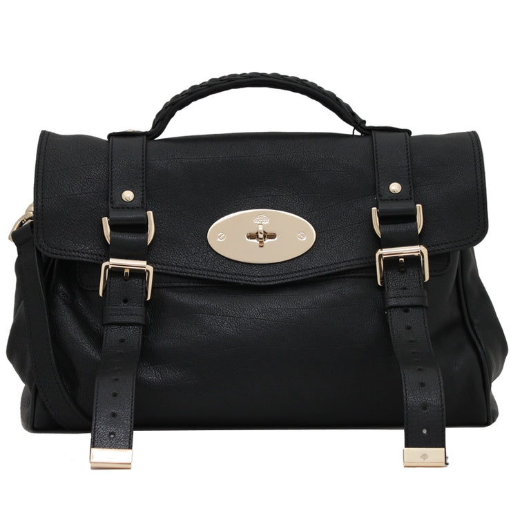 Mulberry Alexa Polished Buffalo Medium Satchel Bag