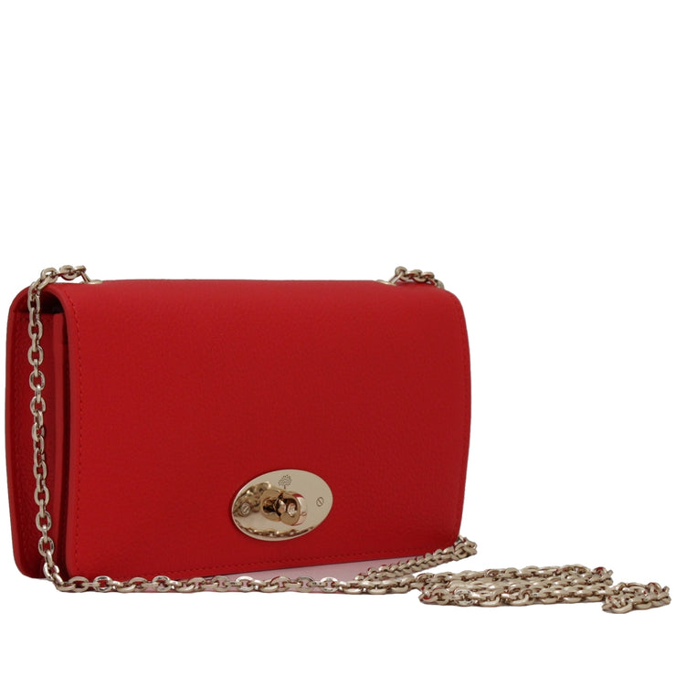 Mulberry RL4004 Bayswater Small Classic Grain Wallet- Clutch- Sling Bag- Fiery Spritz