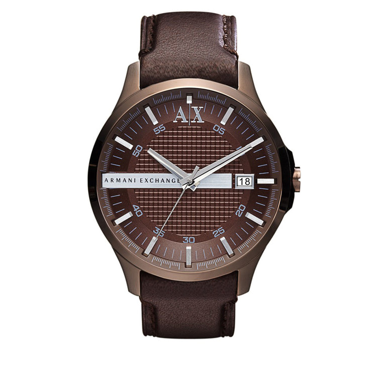 Armani Exchange Watch AX2123- Hampton Brown Leather Men's Watch