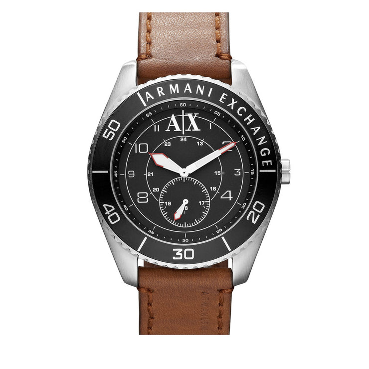 Armani Exchange Watch AX1261- Brown Leather Men's Watch