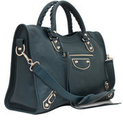 Balenciaga Classic Metallic Edge City Bag- Deep Teal Green