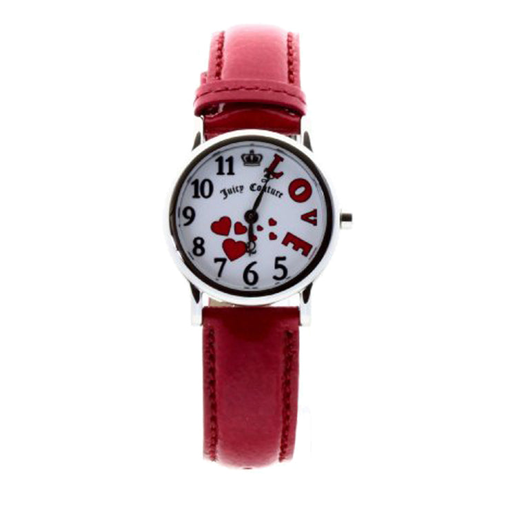 Ladies Princess Love Watch w Pink Leather Strap