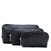 Furla Croc Embossed 3-in-1 Cosmetics Case