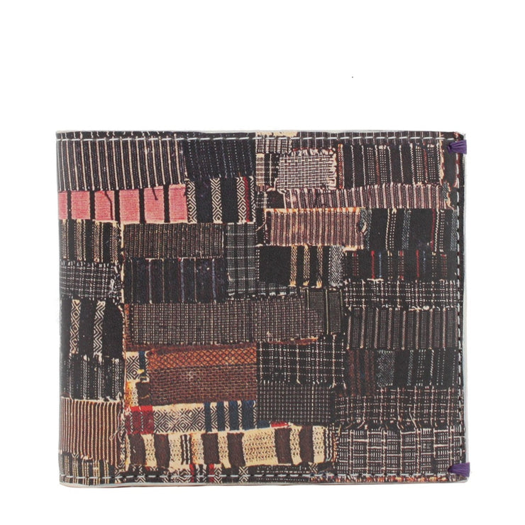 Paul Smith Stripes Patchwork Printed Leather Bi-Fold Wallet