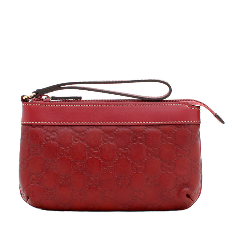 GG Guccisima Leather Large Wristlet