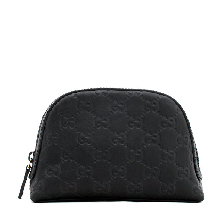 Gucci GG Guccisima Leather Dome Cosmetic Case