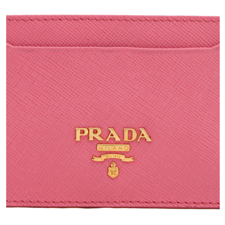 Prada 1M0208 Saffiano Leather Cardholder- Blue