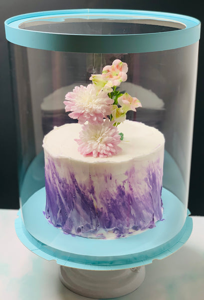 How to simply decorate a flower cake-how to safely put fresh flowers on the cake