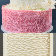 Load image into Gallery viewer, Barbie skirt ruffle fondant silicone mold, princess ruffle skirt for Cake Decoration
