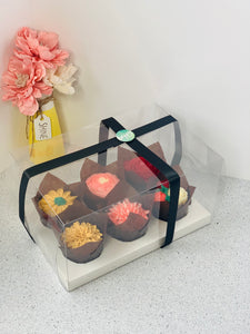 Clear Cupcake & Muffin boxes with 6 holes-12 sets