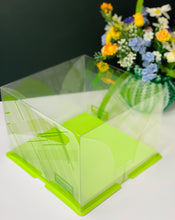 "Load image into Gallery viewer, 10 sets Square Clear Cake Box- 8.5""L x 8.5""W x 6.25""H"