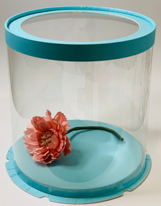 "See through clear round Cake box- 8.5""Diameter x 9""Height"
