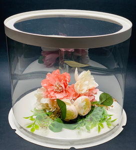 "See through clear round Cake box - 10""Diameter x 9.5""Height"