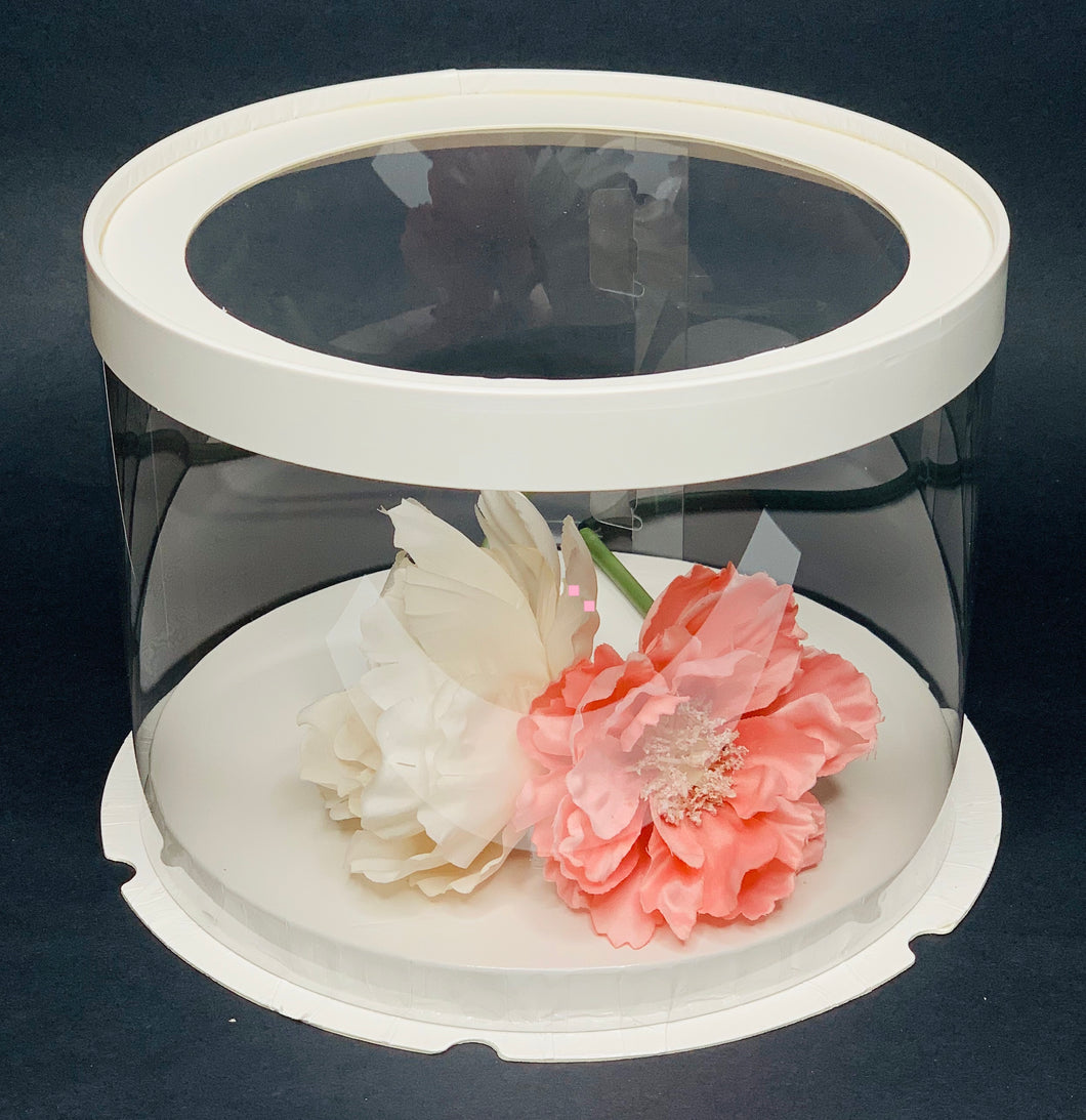 See through clear round Cake box - 8.5