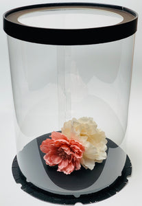 "See through clear tall round Cake box- 8.5""Diameter x 11.75""Height"