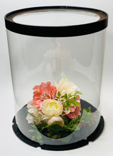 "Load image into Gallery viewer, See through clear tall round Cake box- 10""Diameter x 12.5""Height"