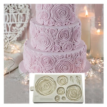Load image into Gallery viewer, Big size 3D Rose Fondant Mold for Cake Decoration,Rosette Ruffle Impress