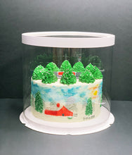 "Load image into Gallery viewer, See through clear round Cake box - 10""Diameter x 9.5""Height"