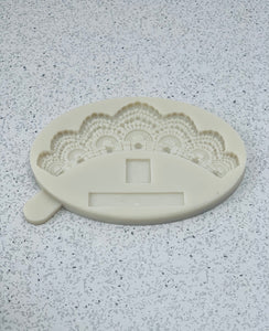 Pearl Lace Swag Silicone Mold, Wedding cake lace design mold