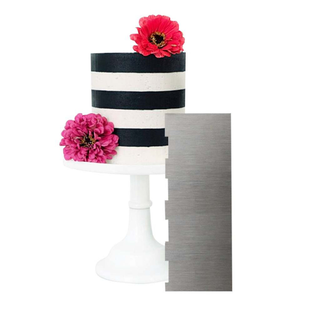Stainless steel Double Sided Cake Scraper, Cake Frosting & Buttercream Metal Smoother